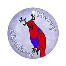 Female Reindeer Eclectus Holiday Ornament