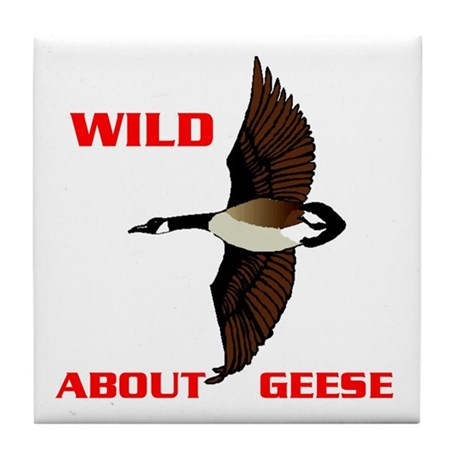 WILD ABOUT GEESE Tile Coaster