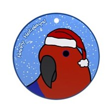 Female Santa Red-Sided Eclectus Ornament