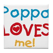 Poppa Loves Me Tile Coaster