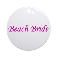Beach Bride Ornament (Round)