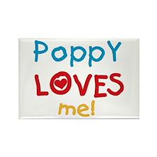 Poppy Loves Me Rectangle Magnet