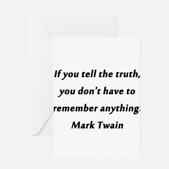 Twain On Truth Greeting Card