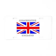 Colchester England Aluminum License Plate