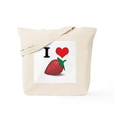 I Heart (Love) Strawberries Tote Bag