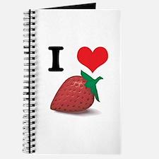 I Heart (Love) Strawberries Journal