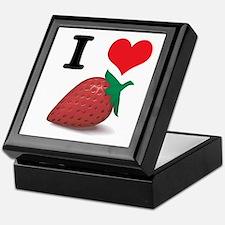 I Heart (Love) Strawberries Keepsake Box