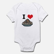 I Heart (Love) Spaghetti and Meatballs Infant Body