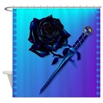 Black Rose and Dagger-2 Shower Curtain