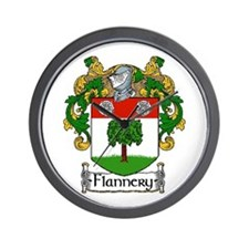 Flannery Coat of Arms Wall Clock