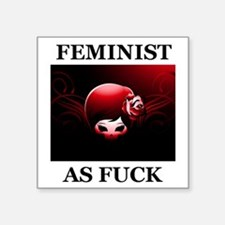 FEMINIST AS FUCK Sticker