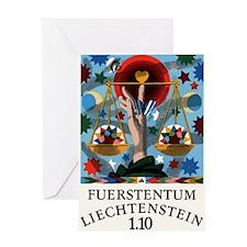 1977 Liechtenstein Libra Postage Stamp Graphic Gre