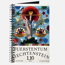 1977 Liechtenstein Libra Postage Stamp Graphic Jou
