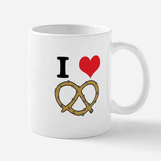 I Heart (Love) Pretzels Mug