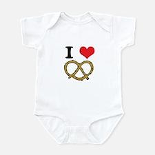 I Heart (Love) Pretzels Infant Bodysuit