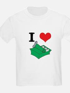 I Heart (Love) Sardines Kids T-Shirt