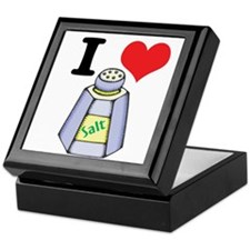 I Heart (Love) Salt Keepsake Box