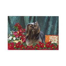 Lhasa Apso Christmas Sassy Rectangle Magnet