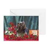 Pets lhasa apso christmas Greeting Cards (10 Pack)