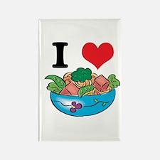 I Heart (Love) Salad Rectangle Magnet
