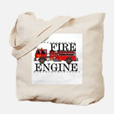 Red Fire Engine Tote Bag