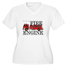 Red Fire Engine Plus Size T-Shirt