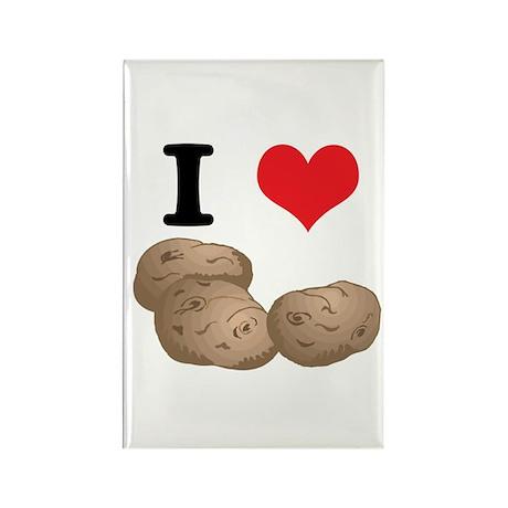 I Heart (Love) Potatoes Rectangle Magnet