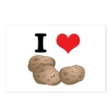 I Heart (Love) Potatoes Postcards (Package of 8)