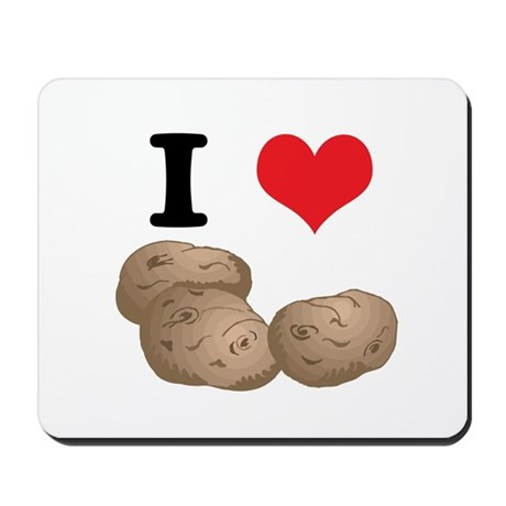 I Heart (Love) Potatoes Mousepad