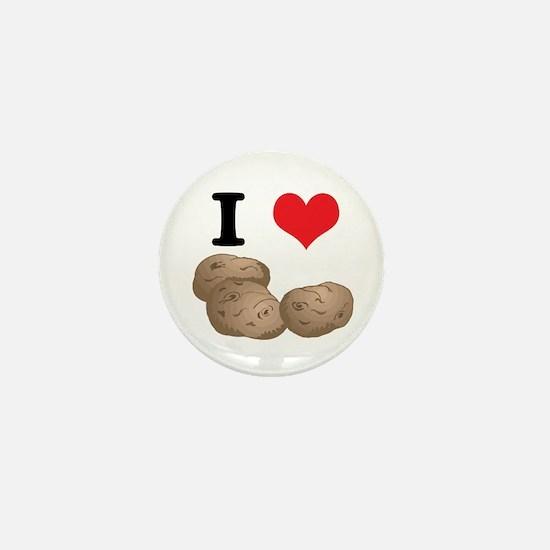 I Heart (Love) Potatoes Mini Button