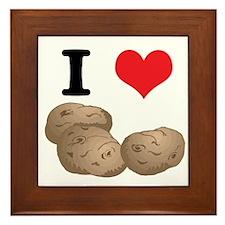I Heart (Love) Potatoes Framed Tile