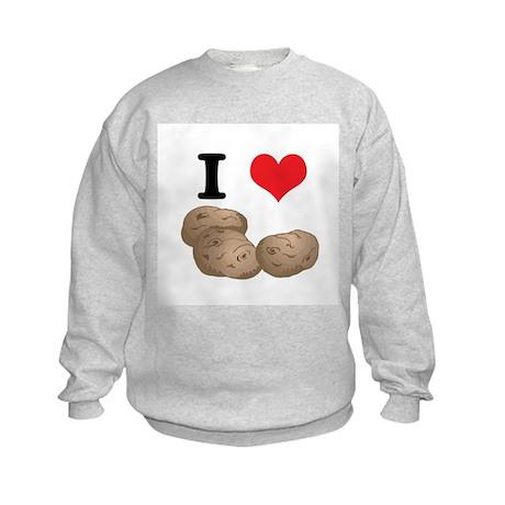 I Heart (Love) Potatoes Kids Sweatshirt