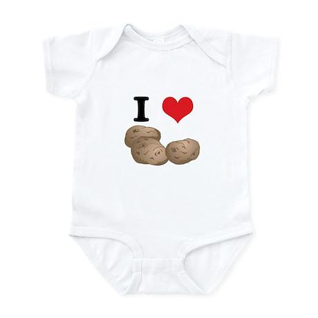 I Heart (Love) Potatoes Infant Bodysuit