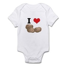 I Heart (Love) Potatoes Infant Bodysuit
