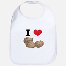 I Heart (Love) Potatoes Bib