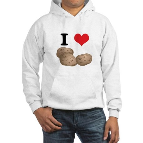 I Heart (Love) Potatoes Hooded Sweatshirt
