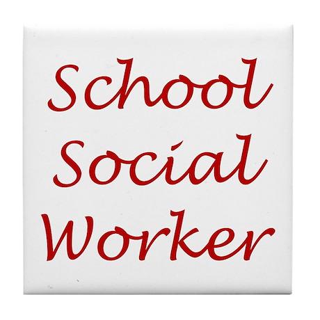 School Social Worker Tile Coaster