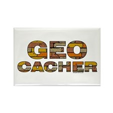 Geocacher Bricks Rectangle Magnet