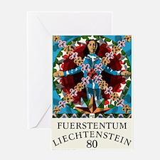 1977 Liechtenstein Virgo Postage Stamp Graphic Gre