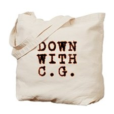 Down with CG Tote Bag