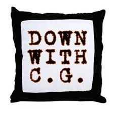 Down with CG Throw Pillow