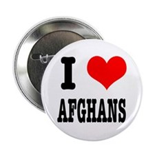 """I Heart (Love) Afghans 2.25"""" Button"""
