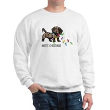 Dachshund Christmas Lights Sweatshirt