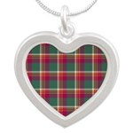 Tartan - Brisbane Silver Heart Necklace