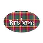 Tartan - Brisbane 20x12 Oval Wall Decal