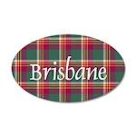 Tartan - Brisbane 35x21 Oval Wall Decal