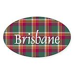 Tartan - Brisbane Sticker (Oval)