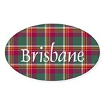 Tartan - Brisbane Sticker (Oval 50 pk)
