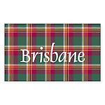 Tartan - Brisbane Sticker (Rectangle 10 pk)