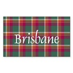 Tartan - Brisbane Sticker (Rectangle 50 pk)
